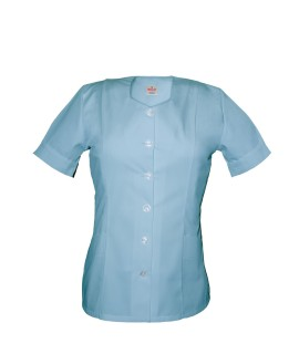 T03 Sky Blue - Nurses Tunic Sweetheart Neckline T03