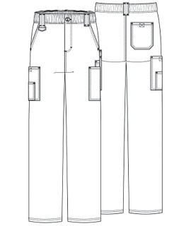 MEN'S EDS SIGNATURE ELASTIC WAIST CARGO SCRUB PANTS 81006