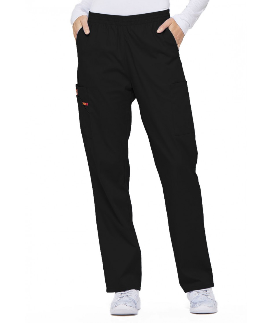 WOMEN'S MISSY FIT EDS SIGNATURE PULL-ON CARGO SCRUB PANTS 86106