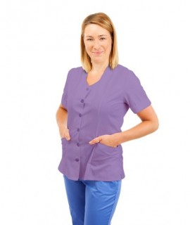 T21 Sky Blue - Nursing Uniforms Top V Neck Male