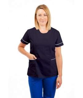 T03 Sky Blue - Nurses Tunic Sweetheart Neckline