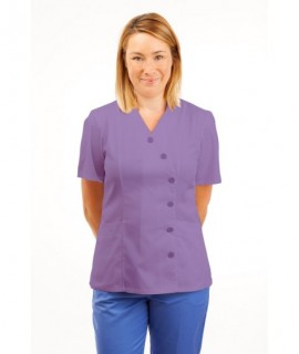 T11 Nurses Uniforms Ladies Tunic Side Closing with Mandarin Collar Lilac T11-NLI