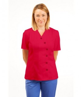 T11 Nurses Uniforms Ladies Tunic Side Closing with Mandarin Collar Rosita T11-ROS