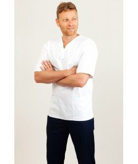 V Neck Classic Male Nursing Uniform T21 T21