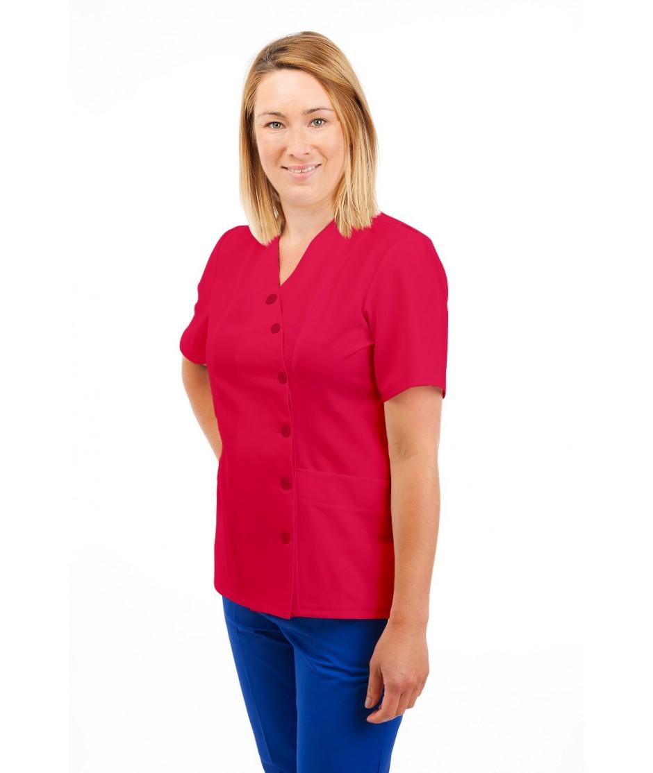 T12 Nurses Uniforms Ladies Side Closing Tunic V Neck Rosita T12-ROS