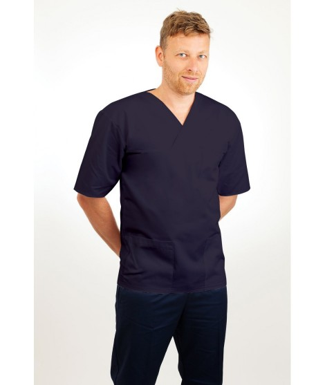 T21 Nursing Uniforms Top V Neck Male Navy T21-NAV