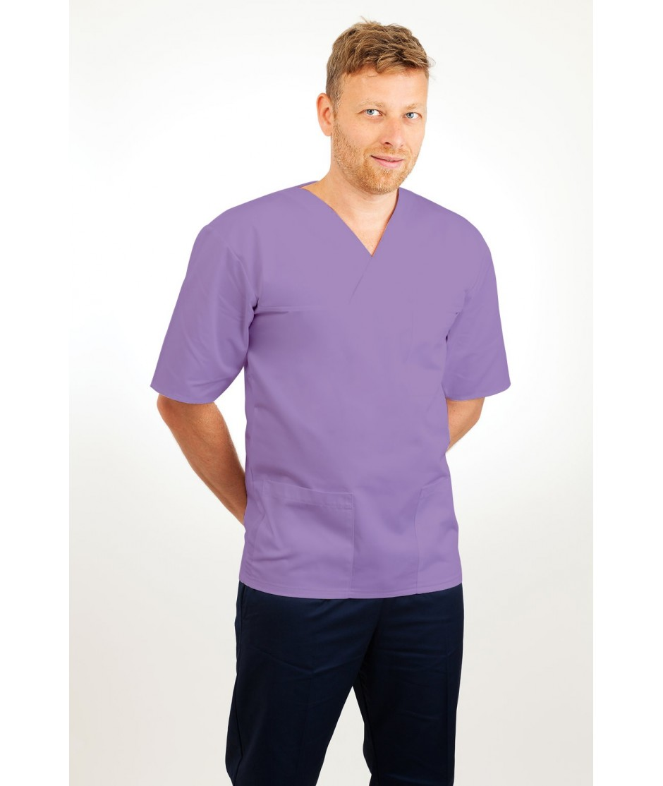T21 Nursing Uniforms Top V Neck Male Lilac T21-NLI