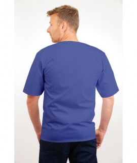 T21 Nursing Uniforms Top V Neck Male Metro Blue T21-MET