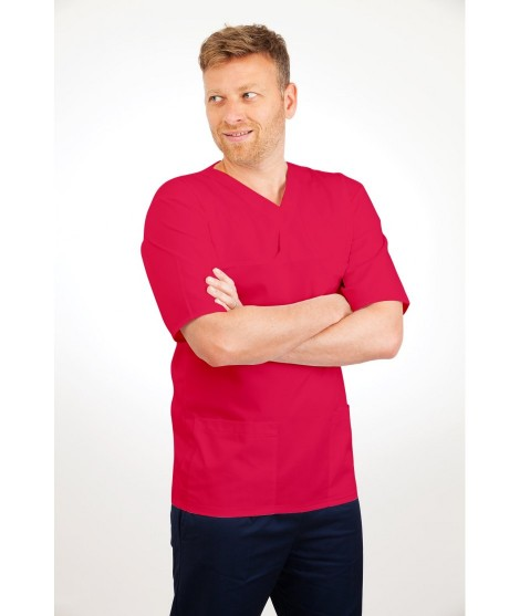 T04 Multicolour - Nurses Uniform Fitted Scrub Round Neck