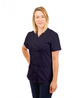T01 Nurses Uniform Tunic Revere Collar Navy T01-NAV