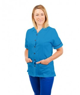 T01 Nurses Uniform Tunic Revere Collar Kingfisher T01-KI