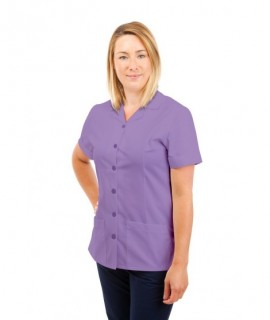 T01 Nurses Uniform Tunic Revere Collar Lilac T01-NLI