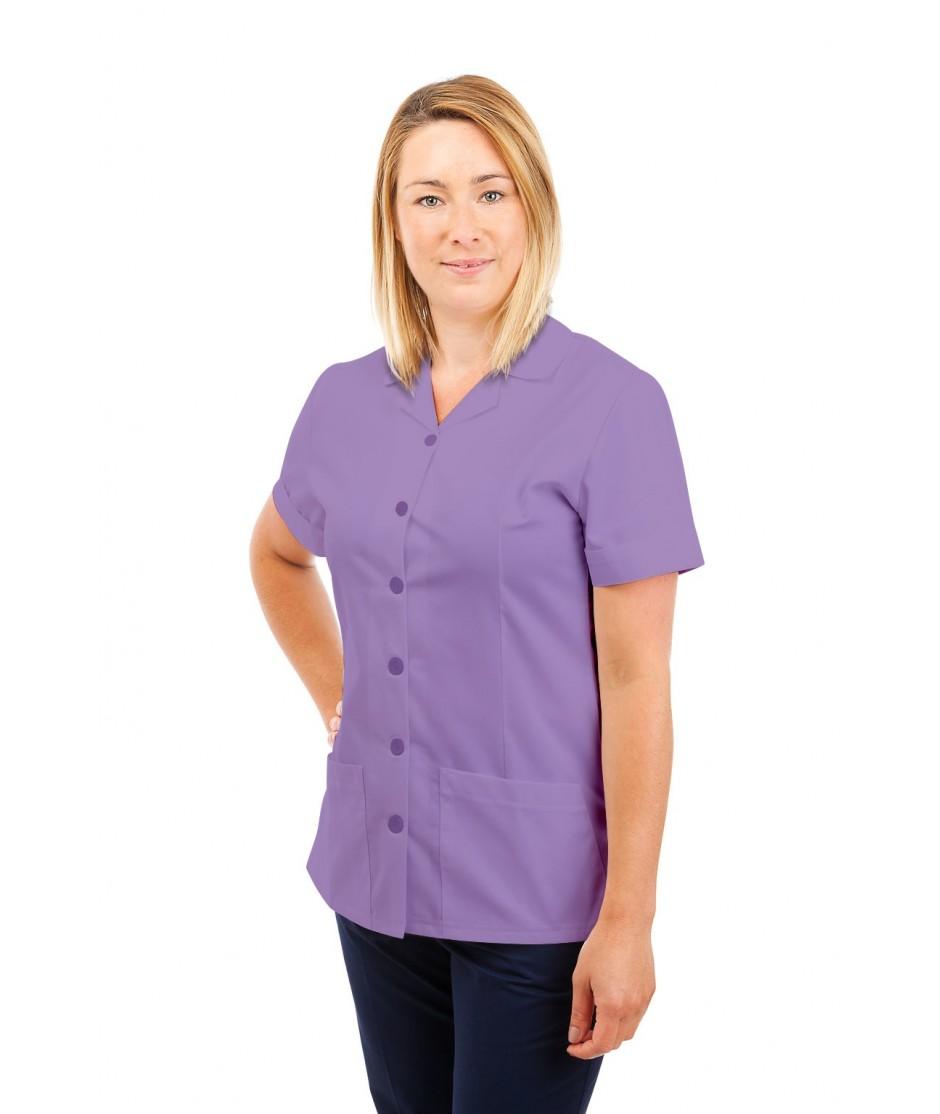 T01 Nurses Uniform Tunic Revere Collar Lilac T01-NLI