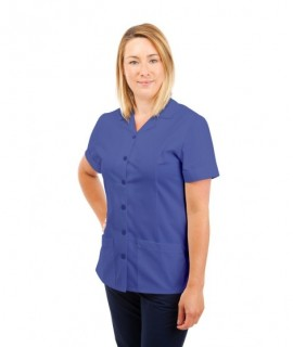 T01 Nurses Uniform Tunic Revere Collar Metro Blue T01-MET