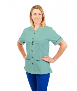 T01 Nurses Uniform Tunic Revere Collar Eau De Nil T01-EDN
