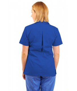 T01 Nurses Uniform Tunic Revere Collar Mid Blue T01-BMB