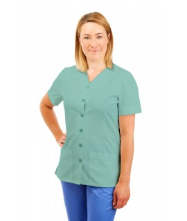 T02 Nurses Uniform V Neck Eau De Nil T02-EDN