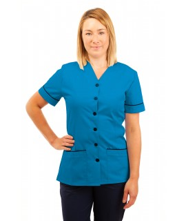 T02 Nurses Uniform V Neck Kingfisher T02-KI
