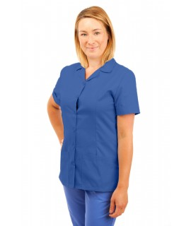 T01 Nurses Uniform Tunic Revere Collar Hospital Blue T01-HBL