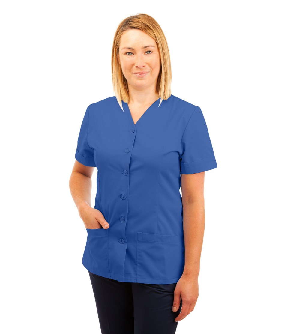T02 Nurses Uniform V Neck Hospital Blue T02-HBL
