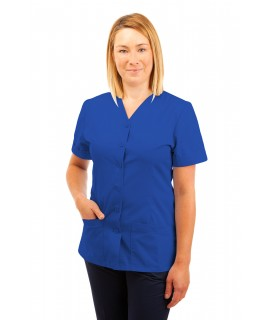 T02 Nurses Uniform V Neck Mid Blue T02-BMB