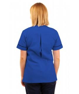 T02 Nurses Uniform V Neck Mid Blue T02-BMB