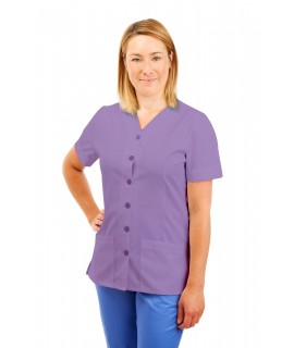 T02 Nurses Uniform V Neck Lilac T02-NLI