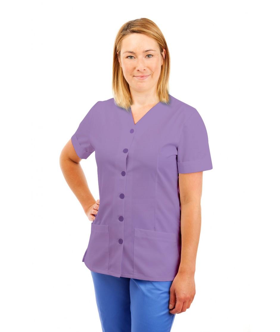 T02 Nurses Uniform V Neck Lilac T02-NLI