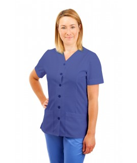 T02 Nurses Uniform V Neck Metro Blue T02-MET