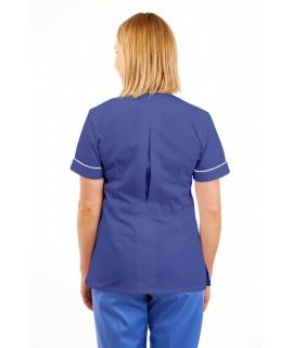 T02 Nurses Uniform V Neck Metro Blue T02-MET