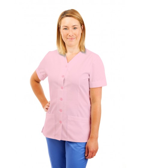 T02 Nurses Uniform V Neck Pink T02-LPI