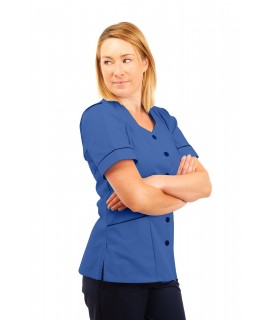 T03 Nurses Tunic Sweetheart Neckline Hospital Blue T03-HBL