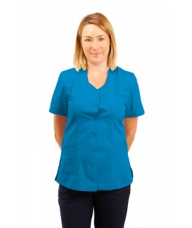 T03 Nurses Tunic Sweetheart Neckline Kingfisher T03-KI