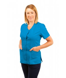 T03 Nurses Tunic Sweetheart Neckline Kingfisher T03-KI