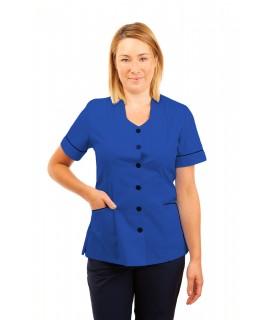 T03 Nurses Tunic Sweetheart Neckline Mid Blue T03-BMB