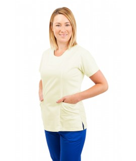 T04 Nurses Uniform Fitted Scrub Round Neck Magnolia T04-MAG