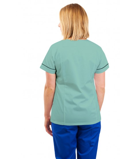 T10 Multicolour - Nurses Uniforms Ladies Tunic Revere Collar Concealed Buttons
