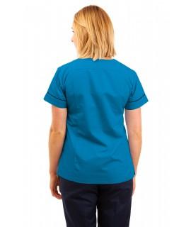 T05 Nursing Uniforms Fitted Scrub V Neck Kingfisher T05-KI