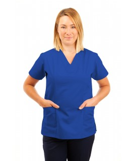 T05 Nursing Uniforms Fitted Scrub V Neck Mid Blue T05-BMB
