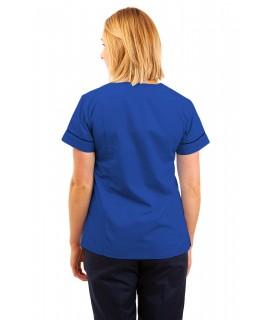 T05 Nursing Uniforms Fitted Scrub V Neck Mid Blue T05-BMB