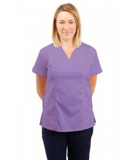 T05 Nursing Uniforms Fitted Scrub V Neck Lilac T05-NLI