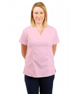 T05 Nursing Uniforms Fitted Scrub V Neck Pink T05-LPI