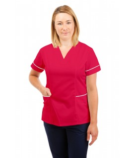 T05 Nursing Uniforms Fitted Scrub V Neck Rosita T05-ROS