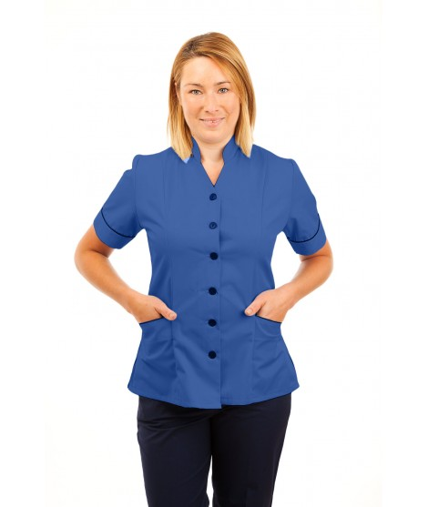 T12 Multicolour - Nurses Uniforms Ladies Side Closing Tunic V Neck