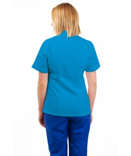 T10 Nurses Uniforms Ladies Tunic Revere Collar Concealed Buttons Kingfisher T10-KI