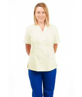 T10 Nurses Uniforms Ladies Tunic Revere Collar Concealed Buttons Magnolia T10-MAG