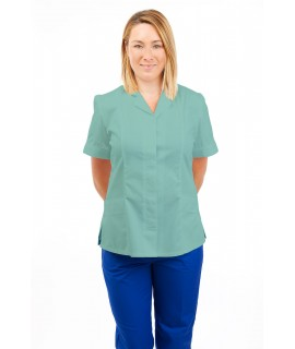 T10 Nurses Uniforms Ladies Tunic Revere Collar Concealed Buttons Eau De Nil T10-EDN