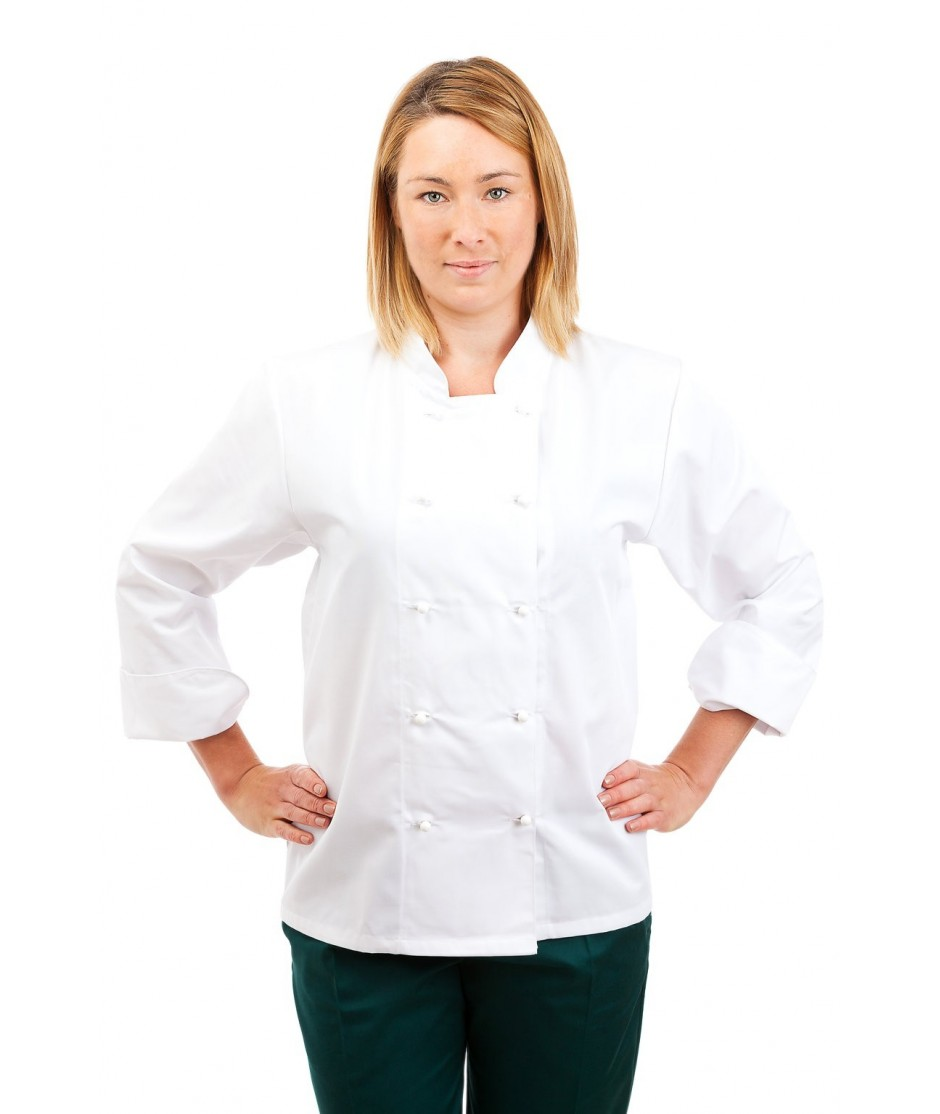CH20 : Chefs Jacket Long Sleeve White or Black CH20