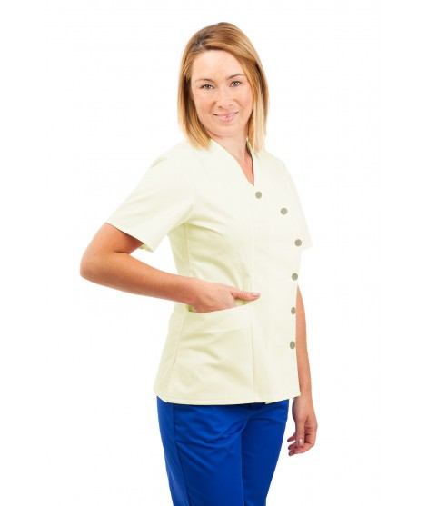 Healthcare Assistant Uniform Aqua Green and White Pinstripe T01