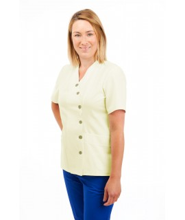 T12 Nurses Uniforms Ladies Side Closing Tunic V Neck Magnolia T12-MAG